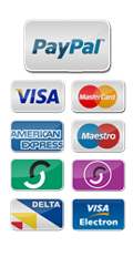 Payment Options - Paypal, Visa, Mastercard, American Express, Maestro, Switch, Solo, Delta, Visa Electron